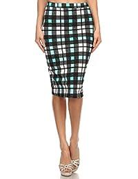 2LUV Plus Women's Dressy Professional Knee Length Pencil Skirt