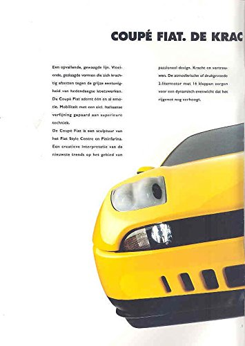 Amazon.com: 1995 Fiat Coupe 2000 16v & Turbo Brochure Dutch: Entertainment Collectibles