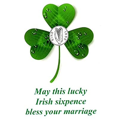 Lucky Irish Sixpence with Card for The Bride: Home & Kitchen