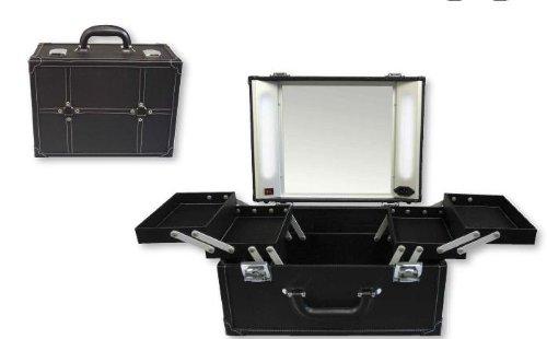vanity suitcase with lights campernel designs. Black Bedroom Furniture Sets. Home Design Ideas