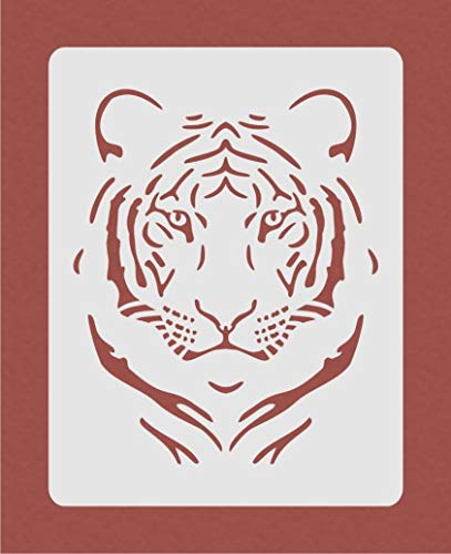 OutletBestSelling Reusable Sturdy Tiger Stencil for Airbrush Crafting Card Making Art Work Wall ()