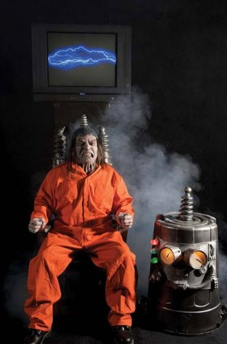 ELECTRIC CHAIR KIT Prison Scary Haunted House Yard Decor Electrocute Halloween DU1000