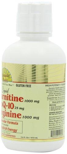 Dynamic Health L carnitine ( 1000 mg) with Coq 10 (25 mg) Plus L arginine (1000 mg), 16 Ounce