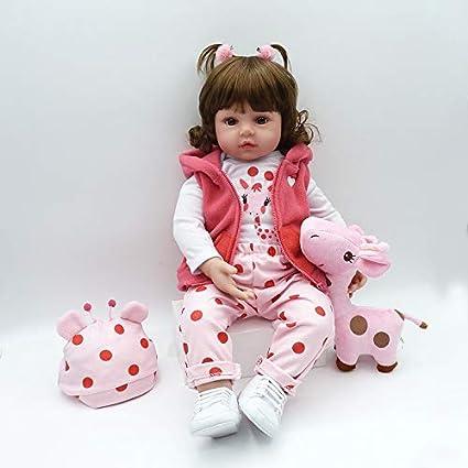 6d7d21d8ee0c6 Nicery Reborn Baby Doll Rinato Bambino Bambola Vinyl Molle del Simulazione  Silicone 18 Pollici 45cm Vivido Realistico Ragazzo Ragazza Bambina  Giocattolo per ...
