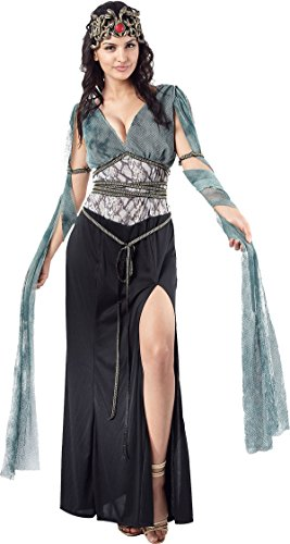 Halloween Sexy Ladies Arwen Fancy Dress Party Medusa Greek Myth Goddess Queen ()