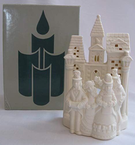 PartyLite Holiday Christmas Bisque Village Carolers P0204 Candle Tealight Holder