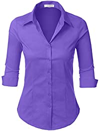 Amazon.com: Purples - Blouses & Button-Down Shirts / Tops & Tees ...