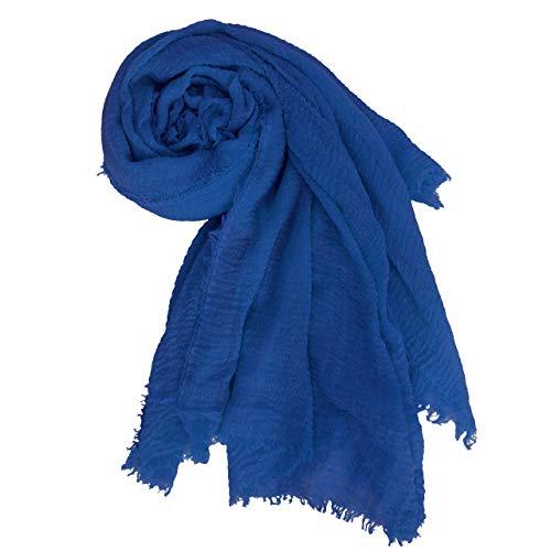 MissShorhair Large Cotton Scarf Wrap ShawlSoft Cotton Scarf Head WrapPlain Hijab Scarfs Pack