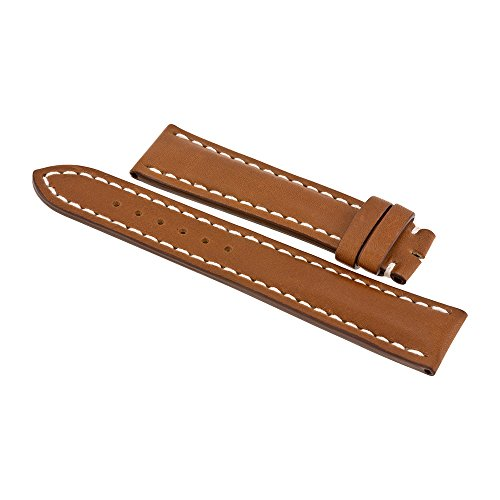 Breitling Light Brown Cowhide Leather Watch Band Strap with No Buckle 425X