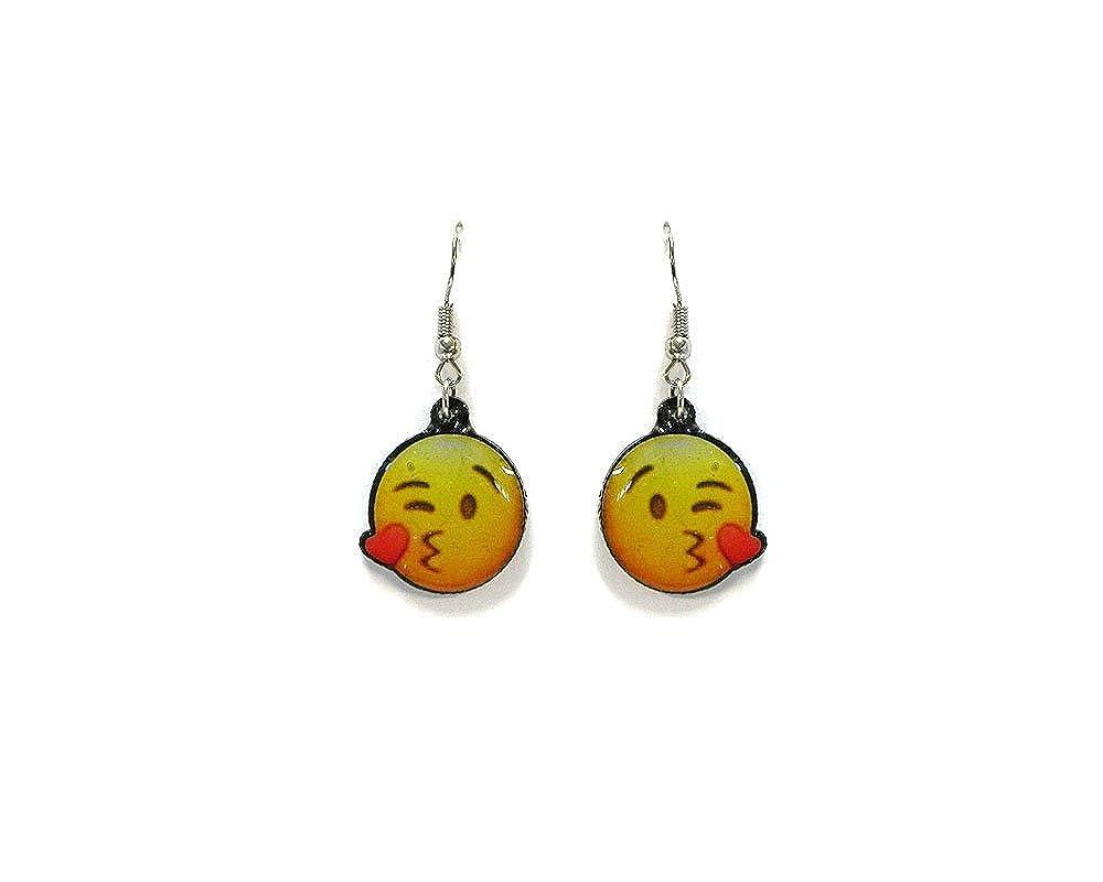 Emoji Face Dangle Earrings