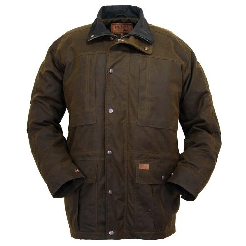 Outback Trading Deer Hunter Waterproof Oilskin Jacket, Bronze, M