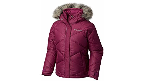 Columbia Girl's Mini Lay D Down Puff Jacket, Dark Raspberry, S by Columbia