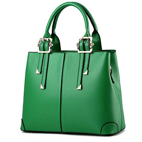Shoulder for PU Leather Green Top Fashion Bags Ladies QUBABOBO Women Handle Handbag Handbags 8qRfx6A