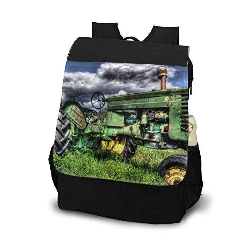 Old Farm Tractor Antique Shoulder Backpack Chest Sling Shoulder Bag Daypack For Women And Men Outdoor Travel