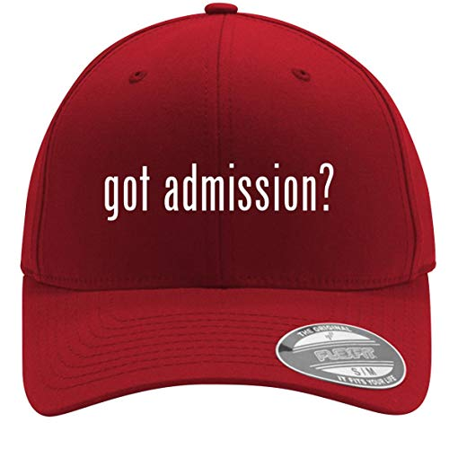 got Admission? - Adult Men's Flexfit Baseball Hat Cap, Red, Large/X-Large