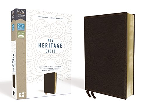 - NIV, Heritage Bible, Deluxe Single-Column, Leathersoft, Brown, Comfort Print