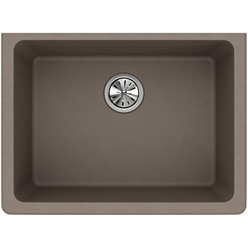 Elkay Quartz Classic ELGU2522GR0 Greige Single Bowl Undermount Sink - Franke Single Bowl Undermount Sink