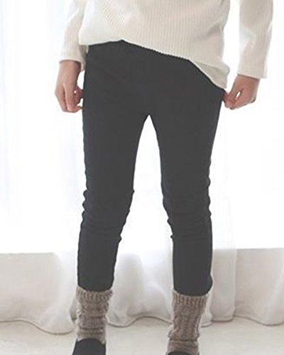 Deportivos Pantalones De Niñas Flaco Largos Elásticos Para Marrón Legging Pantalón ZZrW08qS