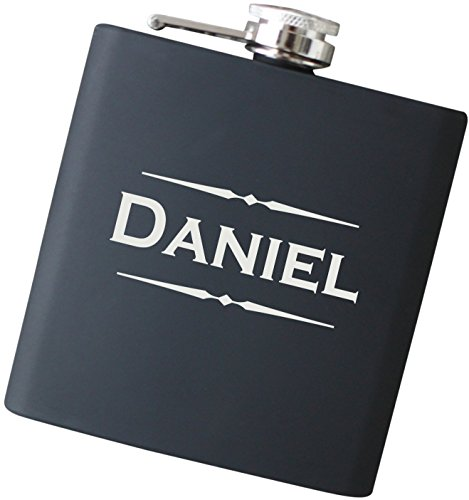 Stainless Steel Custom Flask - Engraved Custom Name Flask with Free Personalization - Your Choice of Colors, 6 oz Stainless Steel Flask Drinkware - F25