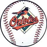 Baltimore Orioles 12 inch Baseball Style Metal Circle Sign