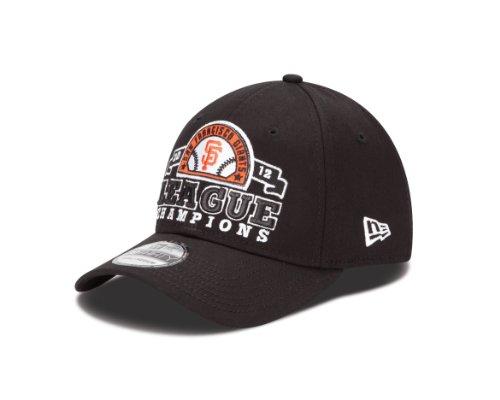 MLB San Francisco Giants Adult National League Champions Official Locker Room Cap, Black, Small/Medium