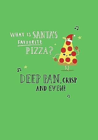 hotchpotch christmas card santa s favourite pizza amazon co uk