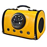Cataria Bubble Soft-Side Cat Carrier - Airline Approved pet Purse - Airplane and car Travel Dog Carriers - Yellow