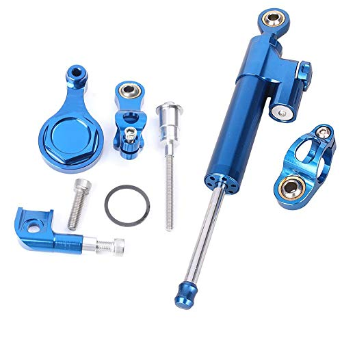 GZYF Racing Motorcycle CNC Steering Damper Stabilizer Buffer Control Bar with Mounting Bracket Kit Full Set Fit for Yamaha R6/R1 2006-2015 (Best Steering Damper For R6)