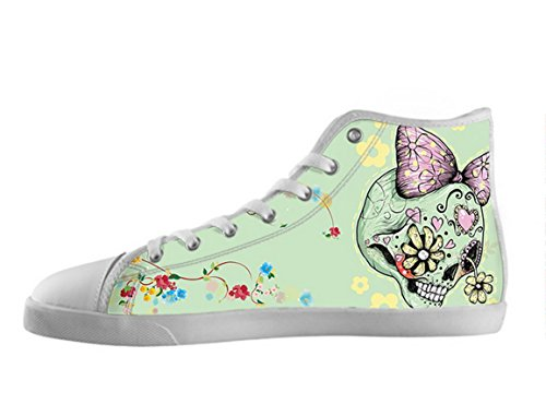 Kvinnor Canvas Kängor Dag Av Den Döda Designen Sockerskalle Shoes10