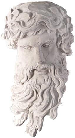 Design Toscano NE30607 Greek God of the Sea: Poseidon Wall Sculpture,ancient ivory