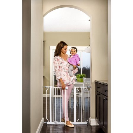 REGALO Extra Wide Walk Through Baby Gate, with Included E...