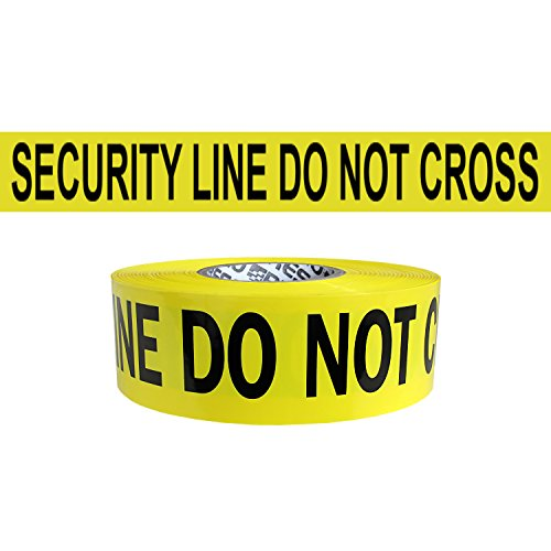Presco Premium Printed Barricade Tape: 3 in. x 1000 ft. (Yellow with Black