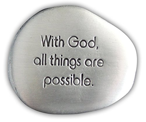 Cathedral Art SS130 with God All is Possible Soothing Stone, 1-1/2-Inch