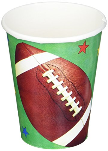 Amscan Football Fan Paper Party Cups