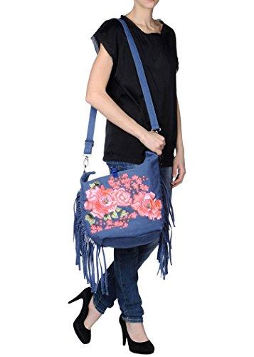 Mia Bag , Damen Schultertasche blau blau