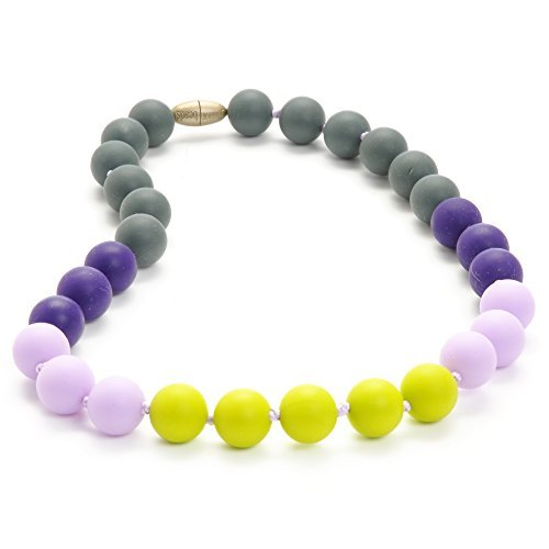 Chewbeads Jr. Bleecker Necklace - Teething Jewelry - 9-Inch Length - Chartreuse by Chewbeads [並行輸入品]   B01BM2KKOA