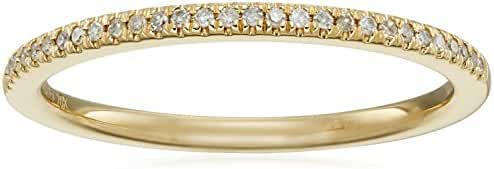 10k Yellow Gold Diamond Band Ring (1/10cttw, H-I Color, I3 Clarity), Size 7