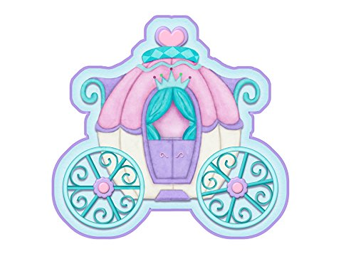 Borders Unlimited Princess Camryn Memory Foam Children's Bathroom Mat, Multicolor by Borders Unlimited