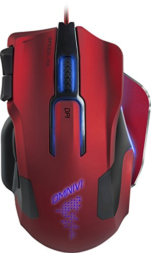Speedlink OMNIVI Core Gaming Mouse, Red - SL-680006-BKRD