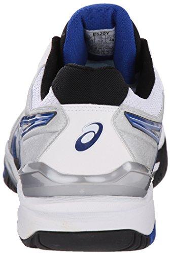 Asics Mens Gel-resolution 6 Chaussure De Tennis Blanc / Bleu / Argent