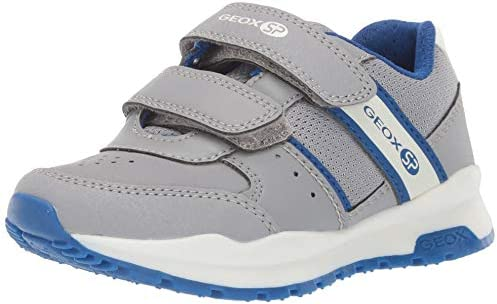 lowest price 3f6c9 14dcc Geox Coridan Boy 7 SP Velcro Sneaker, Dark Grey/Royal, 28 ...