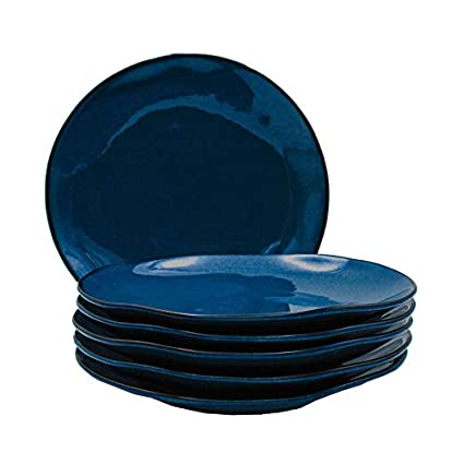 10.25-Inch Night Sky Blue Lynns Concepts Inc. Tuxton Home THGAN006-6B Artisan Dinner Plate