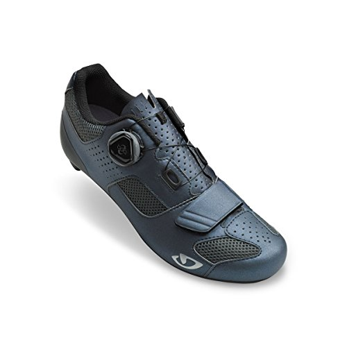 Cycling Charcoal Women's Boa Espada Metallic Giro Shoes Silver HSZqEP
