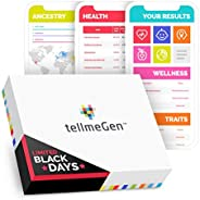 DNA Test Kit tellmeGen | 390+ Reports | Health + Ethnicity (Ancestry Composition) + Genetic Carrier Status + P