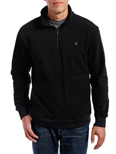 Noble Mount Men's Basic Pullover, Black, (Black Half Zip Pullover)
