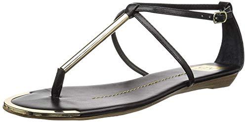 DV by Dolce Vita Women's Archer Flat Sandal, Black Stella, 7 M US