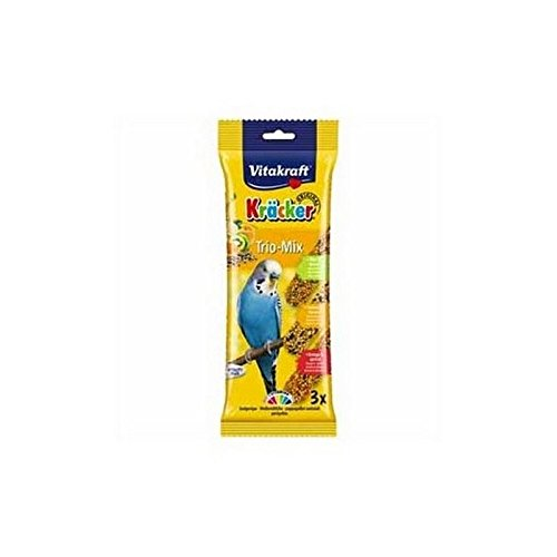 (Vitakraft Budgie Kracker Triple Pack with Orange, Kiwi and Sesame and Banana (90g))