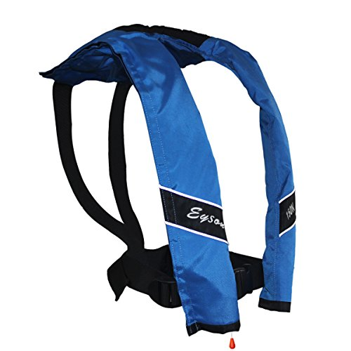 Inflatable Pfd Life Jacket - Eyson Slim Inflatable PFD Life Jacket Life Vest Adult Automatic (Blue)