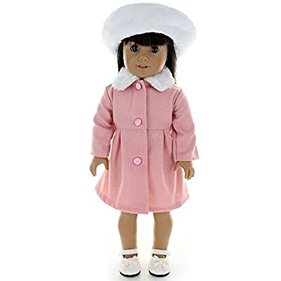 Pink Butterfly Closet Doll Clothes - Jacqueline Kennedy Style Dress Outfit Fits American Girl Doll and Other 18 inch Dolls: Toys & Games