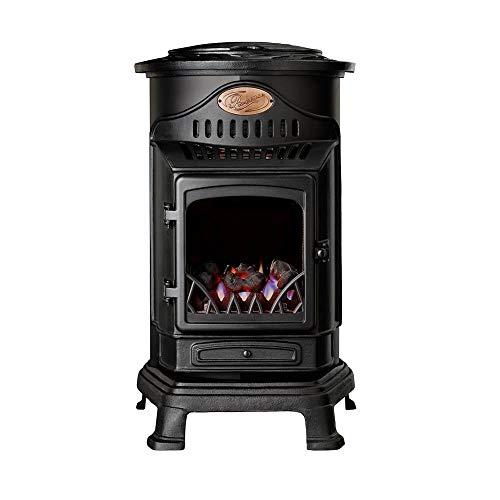 Calor Provence 3kw Portable Flueless Gas Stove Heater (Matt Black)